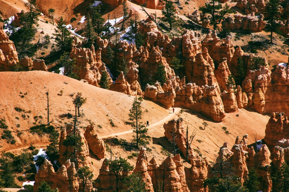 Overlooking the trails, Bryce Canyon