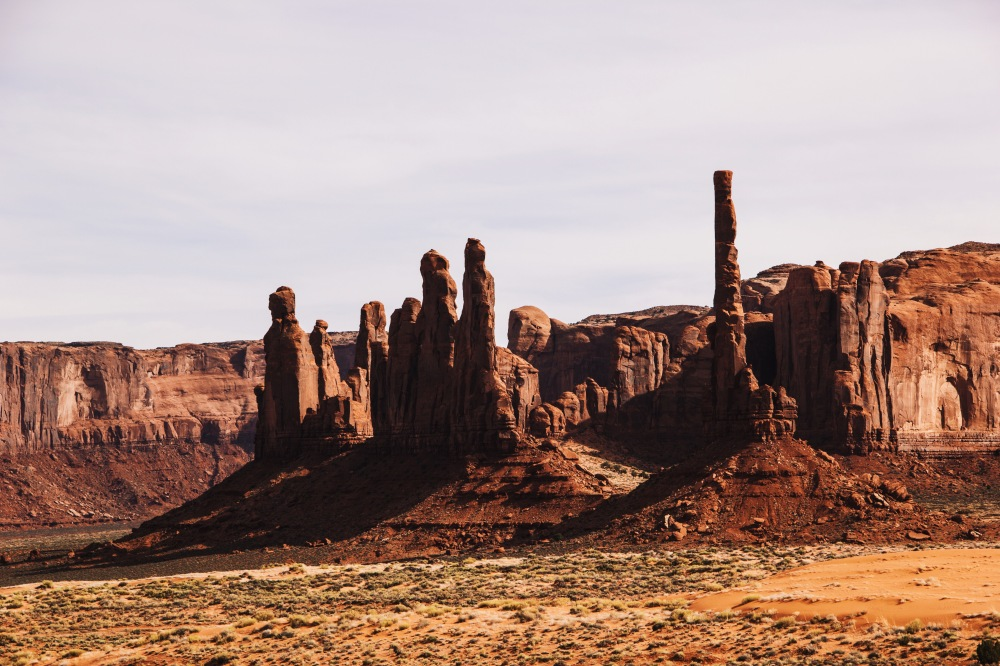 Buttes and Spires in Monument Valley, Utah