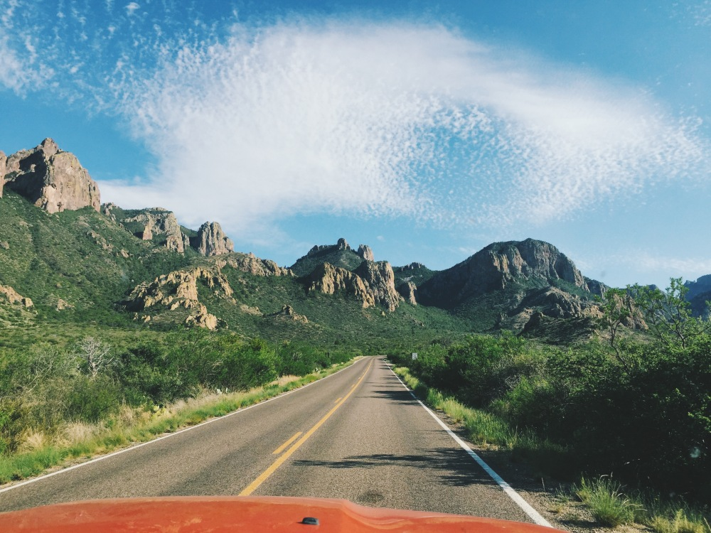 driving towards chisos basin