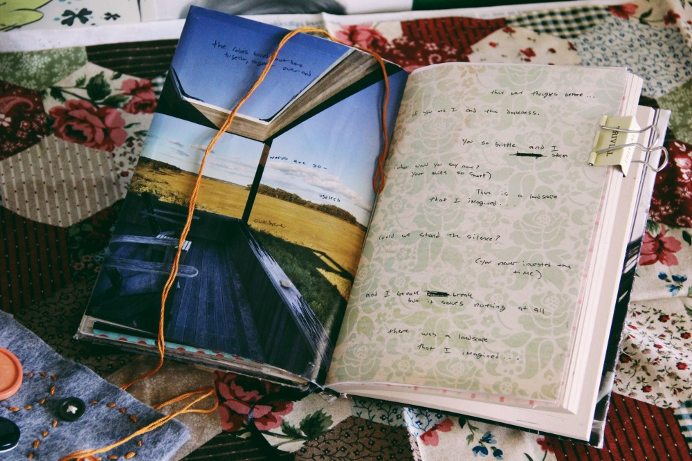 art journal monday- there is a landscape I imagined
