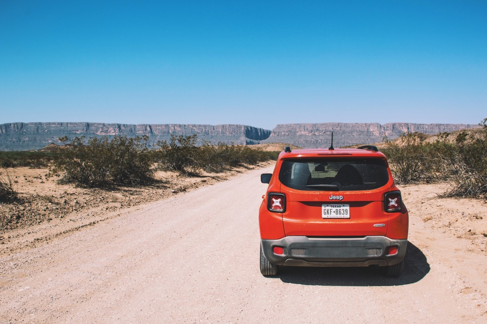 Jeep Renegade at Big Bend natl. park