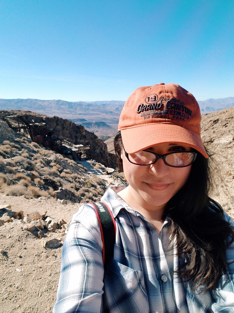 ms fables exploring in Death Valley