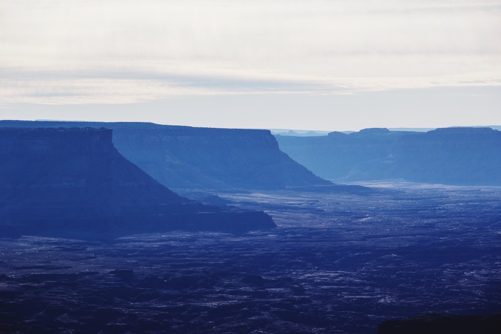 the blue light at Canyonlands National Park