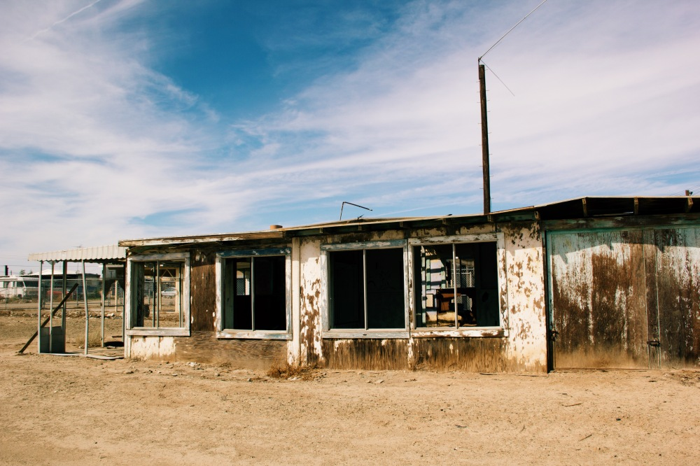 Bombay Beach town near Salton Sea, California