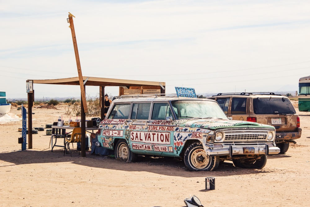 fablesandcoffee at Salvation Mountain, California