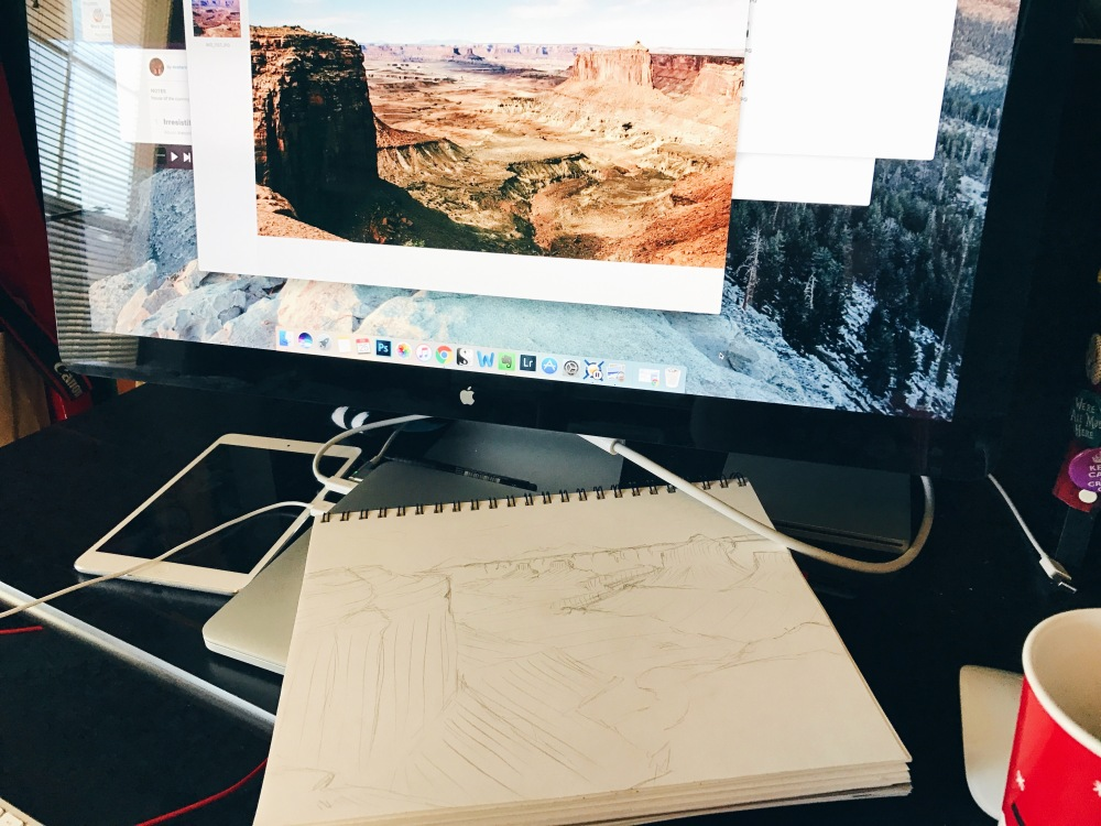 fablesandcoffee canyonlands art in process