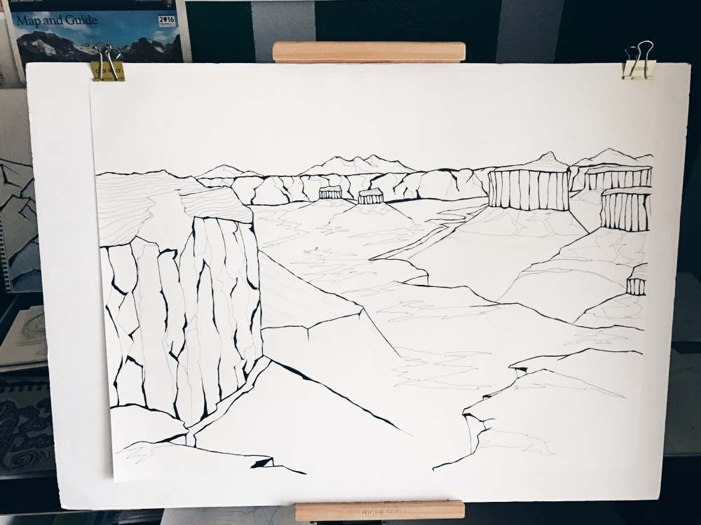 fablesandcoffee canyonlands art project in process