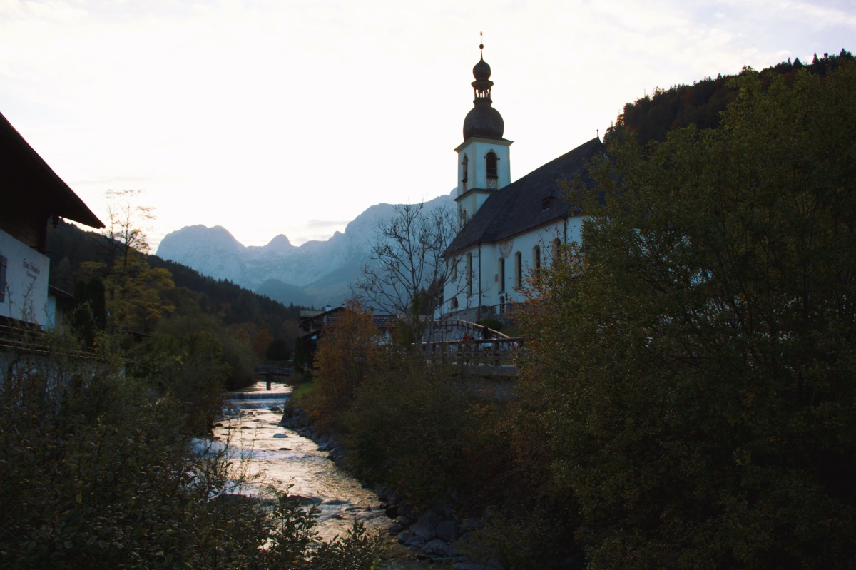 A Church By the River - Ramsau, Germany